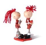 St. het stuk speelgoed van de valentijnskaart royalty-vrije stock afbeeldingen