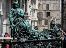 St het Vierkant van het teken, Venetië, Italië Stock Foto's