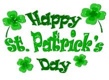 St heureux Le jour de Patrick Images libres de droits