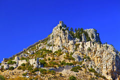 St. Hilarion城堡在Kyrenia,北部塞浦路斯。 图库摄影