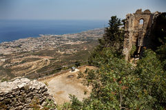 St. Hilarion. Ruins of St. Hilarion in Cyprus stock photos