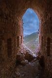 St Hilarion Castle em Kyrenia, Chipre norte Imagem de Stock