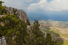 St Hilarion Castle em Kyrenia, Chipre norte Foto de Stock Royalty Free