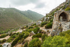 St Hilarion Castle em Kyrenia, Chipre norte Foto de Stock
