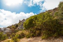 St Hilarion Castle em Kyrenia, Chipre norte Fotografia de Stock Royalty Free