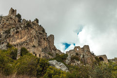 St Hilarion Castle em Kyrenia, Chipre norte Imagem de Stock Royalty Free