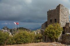 St Hilarion Castle em Kyrenia, Chipre norte Fotos de Stock Royalty Free