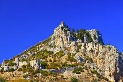St. Hilarion Castle i Kyrenia, norr Cypern. Arkivbild