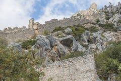 St. Hilarion Castle in Kyrenia, royalty free stock photos