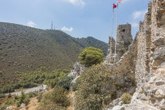 St. Hilarion Castle in Kyrenia, Royalty Free Stock Images