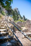 St. Hilarion castle, North Cyprus stock photos