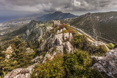 St. Hilarion Castle Royalty Free Stock Images
