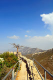 St. Hilarion Fortress. The best preserved of North Cyprus' three castles, this fairytale castle (said by some to have inspired the one in Disneyland) is perched Royalty Free Stock Photo