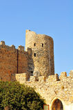 St. Hilarion Fortress. The best preserved of North Cyprus' three castles, this fairytale castle (said by some to have inspired the one in Disneyland) is perched Royalty Free Stock Photography