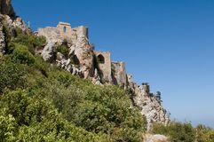 St. Hilarion Fortress Royalty Free Stock Photography