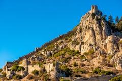 St Hilarion Kasteel Kyreniadistrict, Cyprus Royalty-vrije Stock Foto's