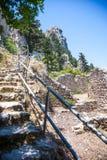 St Hilarion kasztel, Północny Cypr zdjęcia stock