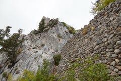 St Hilarion kasztel w Kyrenia, Północny Cypr Zdjęcie Stock