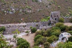 St Hilarion kasztel w Kyrenia, Północny Cypr Fotografia Royalty Free