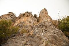 St Hilarion kasztel w Kyrenia, Północny Cypr Obrazy Royalty Free