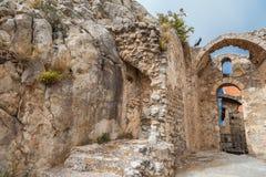 St Hilarion kasztel w Kyrenia, Północny Cypr Zdjęcia Royalty Free