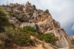 St Hilarion kasztel w Kyrenia, Północny Cypr Zdjęcia Stock