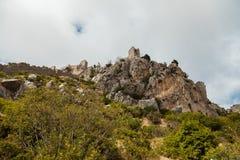 St Hilarion kasztel w Kyrenia, Północny Cypr Obraz Stock