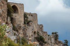 St Hilarion kasztel w Kyrenia, Północny Cypr Fotografia Stock