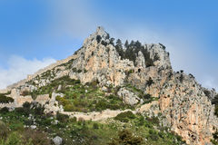 St. Hilarion. Ruins of St. Hilarion Castle in Kyrenia, in the northern part of Cyprus stock photos