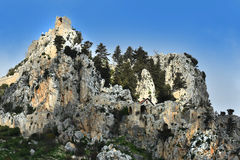 St. Hilarion. Ruins of St. Hilarion Castle in Kyrenia, in the northern part of Cyprus royalty free stock photo