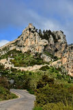 St. Hilarion. Ruins of St. Hilarion Castle in Kyrenia, in the northern part of Cyprus royalty free stock photography