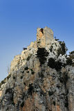 St. Hilarion. Ruins of St. Hilarion Castle in Kyrenia, in the northern part of Cyprus stock image