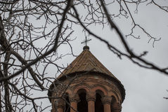 St. Holy Mother of God Church cross with trees Stock Photography