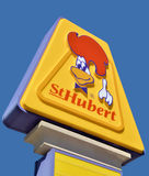 St-Hubert BBQ Ltd. MONTREAL QUEBEC CANADA 03 30 17: St-Hubert BBQ Ltd is a chain of Canadian casual dining restaurants best known for its rotisserie chicken. St stock image