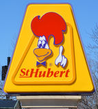 St-Hubert BBQ Ltd. MONTREAL QUEBEC CANADA 03 30 17: St-Hubert BBQ Ltd is a chain of Canadian casual dining restaurants best known for its rotisserie chicken. St stock photos