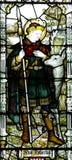 St Hubertus i målat glass Royaltyfria Bilder