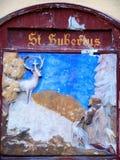 St. Hubertus plate stock images