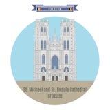 St i St Katedra Michael Gudula, Bruksela, Belgia Zdjęcie Royalty Free
