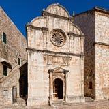 St. Iglesia del salvador en Dubrovnik, Croatia Fotos de archivo libres de regalías
