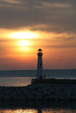 St Ignace Lighthouse Fotografia Stock