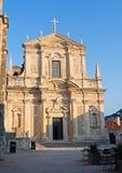 St Ignatius Church Baroque en la ciudad vieja de Dubrovnik, Croacia fotografía de archivo