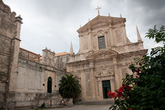 St. Ignatius Church from Dubrovnik Croatia Stock Images
