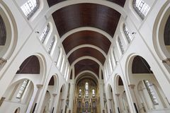 St Ignatius church. Image taken of the interior of St Ignatius church, london, england Stock Photography