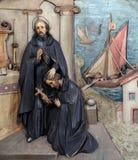 St Ignatius invia il san Francis Xavier nella missione Immagine Stock
