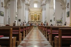 St Ignatius kyrka i Dubrovnik royaltyfri foto