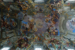 St. Ignatius of Loyola trompe l'œil ceiling Royalty Free Stock Images