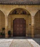 St.Illuminata Portal Church. Montefalco. Umbria. Stock Images