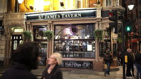 St inglês original James Tavern do bar video estoque