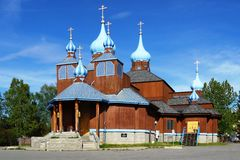 The St. Innocent Russian Orthodox Cathedral in Anchorage, Alaska Royalty Free Stock Image