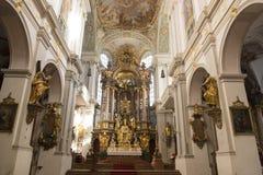 St intérieur Peters Church Munich Photos libres de droits